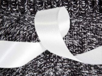 Текстильные бирка атлас стканым краем